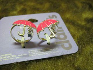 friends pink umbrella rings adjustable BFF jewelry friendship rings