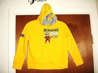 The INCREDIBLES Dash Hoodie Jacket Shirt Jersey Sewn Youth Boys sz S