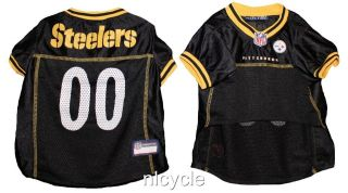Pittsburgh STEELERS PINK MESH Pet Dog JERSEY with NFL PATCH XS S M L