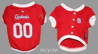 St. Louis Cardinals MLB Pet Dog Baseball Red Jersey Sizes S M L XL
