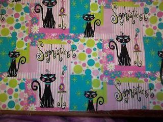 Joann Fabrics cat Sewing fabric Joannes Sophisticat kitty cats girly