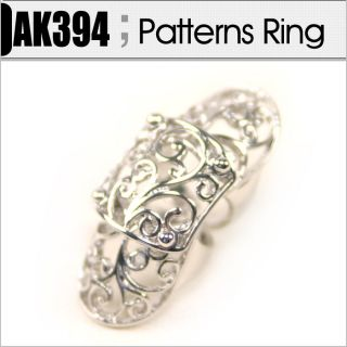 New394 Patterns Full Finger Joint Armor Knuckle Ring / Free Gifts