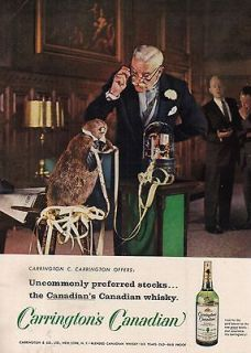 Canadian Whisky Beaver Stock Ticker Tape Machine Whiskey Ad