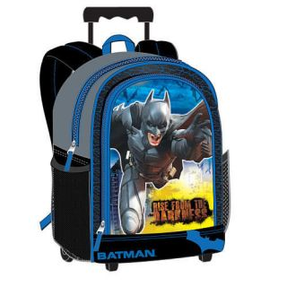 KNIGHT CAPED CRUSADER Full Size Travel School Rolling Backpack $32