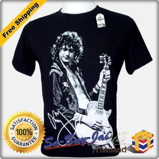 SHIRT JIMMY PAGE GUITARIST LED ZEPPELIN ROCK RTO VTG
