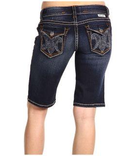 New MEK Denim By Miss Me Bermuda Jodhpur Dark Blue Jean Shorts 25 x 12