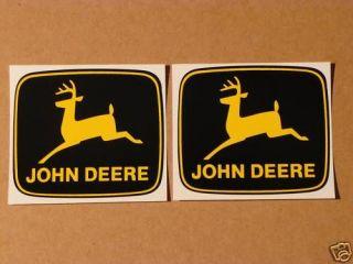 JOHN DEERE 3 inch 2 legged Yellow Deer Computer Cut DECALS Tractor