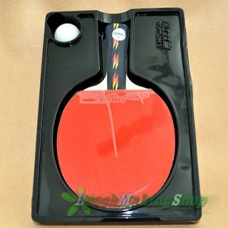 DHS Ping Pong Paddle Table Tennis Racket 4 Star Long Professional