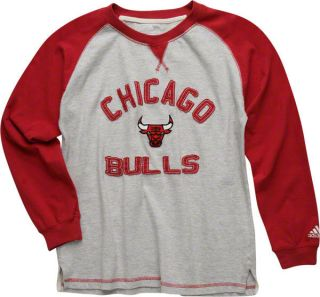 Chicago Bulls Red Youth Vintage Long Sleeve Crewneck T Shirt