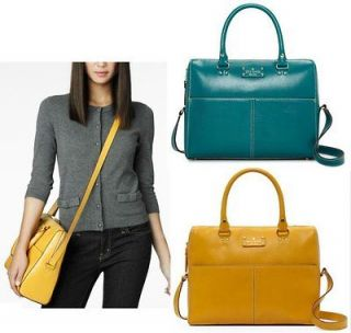 Kate Spade Wellesley Kingston Purse Ochre & Peacock