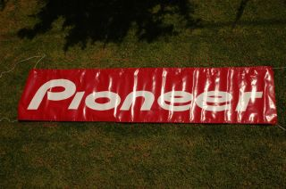 Pioneer advertising banner, sign, flag, flyer, car home stereo.