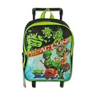 Toy Story Buzz , Woody 12 Inch Rolling Kids Toddler Wheeled Backpack