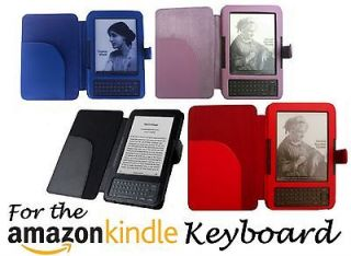for  KINDLE 3 KEYBOARD MODEL LEATHER CASE COVER WALLET WITH