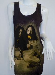 John Lennon Yoko Ono T Shirt Tank Top Vest Men Women One Size Fit up