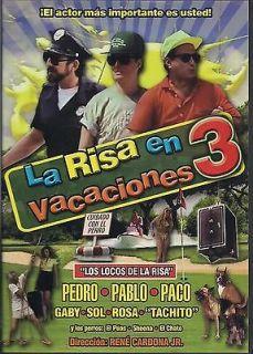 La Risa En Vacaciones 3 DVD NEW Pedro Pablo Y Paco Factory Sealed!