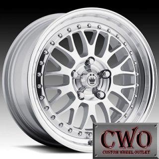 16 Silver Konig Roller Wheels Rims 4x100 4 Lug Civic Mini Xb Cobalt
