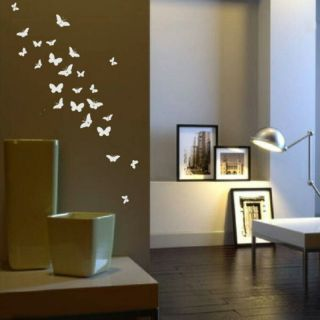 BUTTERFLIES WALL STICKER LARGE BUTTERFLY DECAL ART giant stencil vinyl