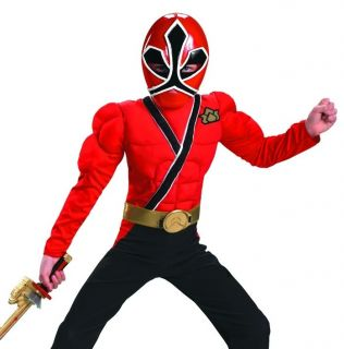 Kids Power Rangers Samurai Red Ranger Halloween Costume