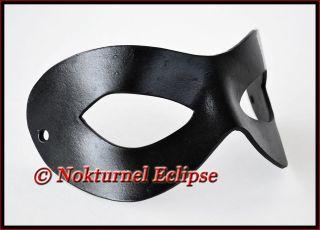 Black Superhero Leather Mask Masquerade Incredibles Comic Con