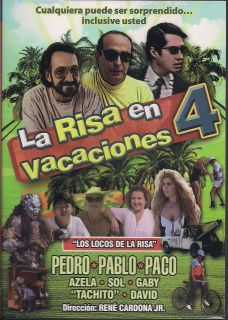 La Risa En Vacaciones Part 4 DVD NEW Pedro Pablo Y Paco Factory Sealed