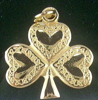 Sterling Silver Celtic Shamrock Necklace Pendant 18 Irish Made c r
