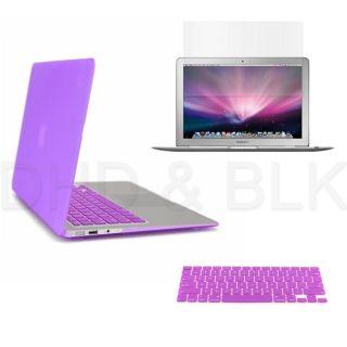 Purple Hard Case for Macbook Air 13 + Keyboard Cover + Screen Guard