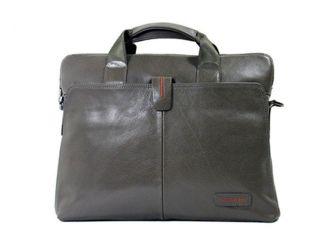 Genuine Leather Mens Womens Bussiness Laptop Breifcase Shoulder Bag