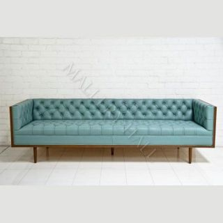 Celebrity Chesterfield Pale Blue Leather Sofa