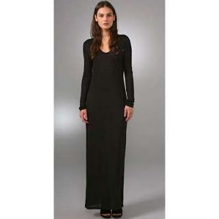 by Alexander Wang black pocket long sleeve maxi dress Small