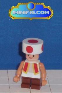 Custom LEGO Super Mario game figure Toad (red)