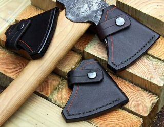 HAND MADE CUSTOM GROOVED LEATHER SHEATH FOR GRANSFORS BRUKS SMALL