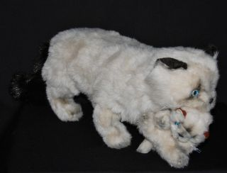 Avanti 1983 By Applause Plush Lifesize Mother Himalayan Cat & Kitten