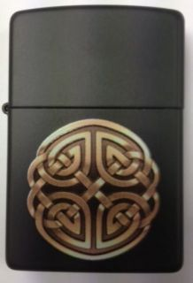 Celtic knot ZIPPO LIGHTER Irish Souvenir Matte Black FREE ENGRAVING