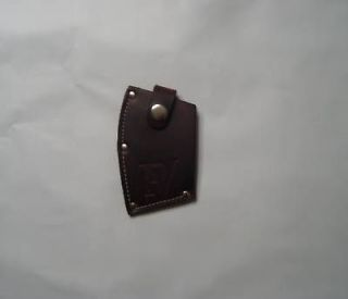 LEATHER AXE SHEATH / GUARD / DARK BROWN PICK 3 SIZES