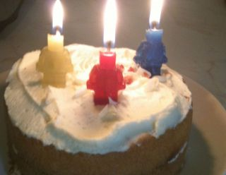 Lego Mini Figure Inspired Birthday Cake Party Candles X 5