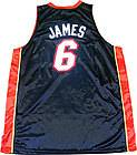 LEBRON JAMES 2012 MIAMI HEAT BLACK AND WHITE AUTHENTIC ADULT JERSEY