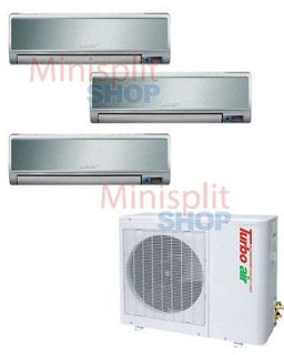 Mini Split 3 x 12000  36000 Turbo Air Conditioner A/C + Heat Pump TAS