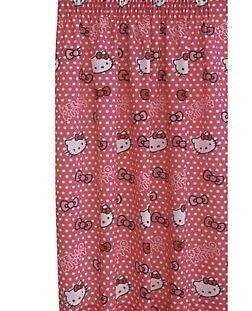 HELLO KITTY CANDY SPOTS PINK READY MADE CURTAINS 66x54