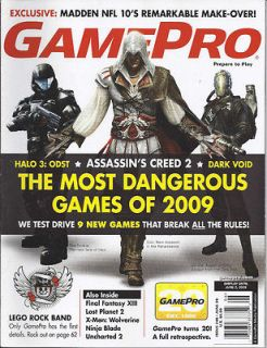 GAMEPRO 2009 HALO 3 ODST ASSASSINS CREED 2 DARK VOID LEGO ROCK BAND