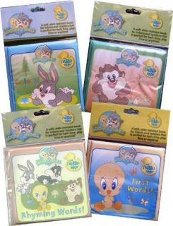NEW Baby Looney Tunes Bath Tub Books (Set of Four)