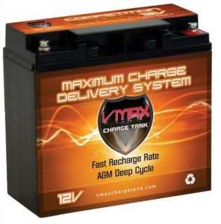 VMAX 600 12V DEEP CYCLE AGM BATTERY IDEAL FOR18LB 24LB WATERSNAKE