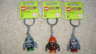 LEGO Power Miners Key Chains Rock Monsters Firax Brand NEW (3)