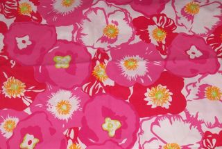 LILLY PULITZER FABRIC*BEGONIAS*SCARLET*HOTTY PINK*17 X 17*QUILT FABRIC