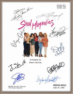 DOLLY PARTON JULIA ROBERTS SALLY FIELD SIGNED X9 STEEL MAGNOLIAS