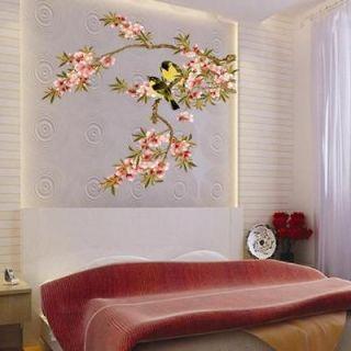 2012 Beautiful FLOWER BRANCE TREE BIRD VINY Wall decor WALL Sticker