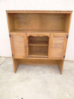 Ethan Allen louver door nutmeg room plan crp book shelf hutch top
