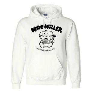 New Mac Miller Hooded Sweatshirt rap hip hop most dope ymcmb Hoodie S