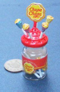 Lolli Pop Holder & 10 Lollies Dolls House Miniature Shop Accessory hw