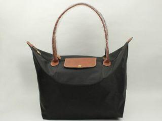 Longchamp Le Pliage Nylon Tote Bag Black New Large
