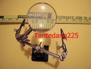 Extra Large Magnifying Glass   Helping Clamp Hands NEW